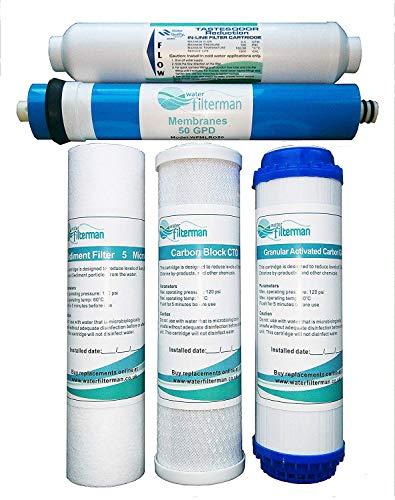 Wasserfilter Ersatz Set - 5 Stufen Umkehrosmose Filter
