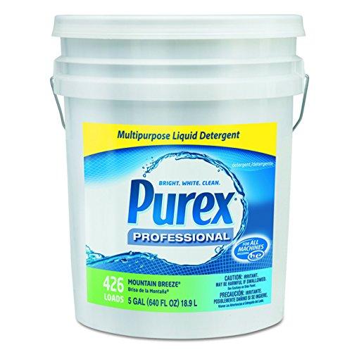 Purex 06354 Concentrate Liquid Laundry Detergent, 5 gal Capacity, Mountain Breeze, Pail, Blue