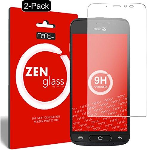 ZenGlass [2 Stück Flexible Glas-Folie kompatibel mit Doro 8040 Panzerfolie I Bildschirm-Schutzfolie 9H