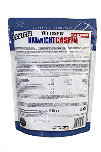 Weider Day & Night Casein Protein, Vanilla-Cream/Vanille-Sahne, 1er Pack (1x 500g), Beutel - 4