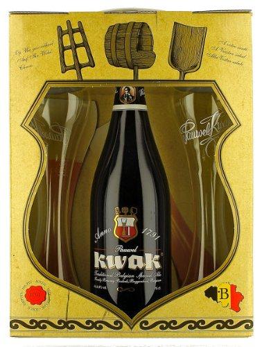 Kwak Bier Geschenkbox - Kwakbier 750ml Flasche 8,4Vol. 2Gläser