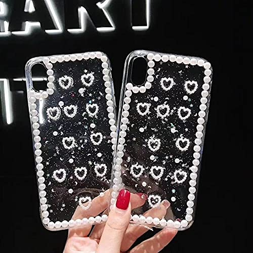 WGOUT Funda para teléfono Love Heart con Diamantes de imitación para iPhone12 11pro 11promax X XS XR XS MAX 6 6S 7 8 Plus, diseño 1,12 Pro MAX (6.7)