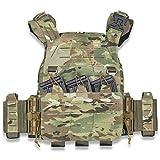 Riva776Yale Gilet Tactique Militaire Airsoft Gilet Molle, Réglable Porte Plaque Gilet pour Camping CS Paintball Guerre Jeu