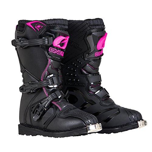 O'Neal 0325-703 Girls New Logo Rider Boot (Black/Pink, Size 3)