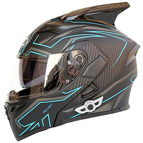 Casco Modular de Motos,Casco de Moto con Bluetooth Integrado para Patinete Electrico...