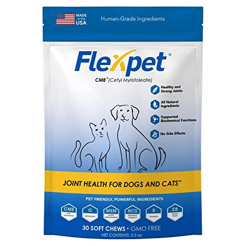 Flexpet Maximum Strength Soft Chews – AllNatural Pain Reliever for Dogs with Glucosamine and Cetyl Myristoleate CM8 Hip and Joint Supplement AntiInflammatory: Trial Pack  30 Soft Chews
