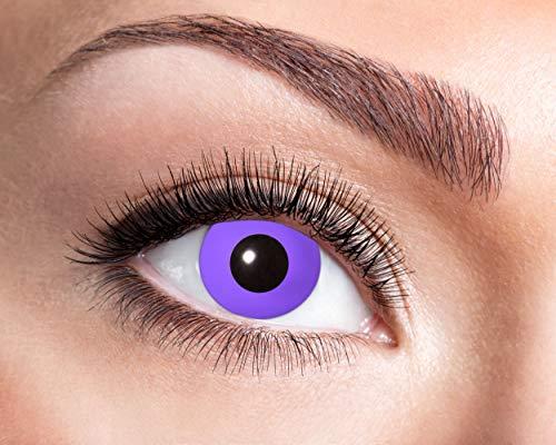 Zoelibat Farbige Kontaktlinsen in Markenqualität, Wochenlinsen, 2 Stück, BC 8.6 mm / DIA 14.5 mm, Purple Gothic, für Halloween, Fasching, Karneval, lila