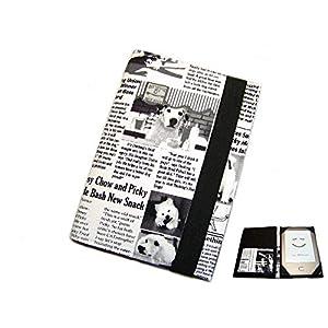 aufklappbare eBook Reader eReader Tablet Hülle Dog News, Maßanfertigung, z.B. für Kindle, Samsung Galaxy Tab, Sony…
