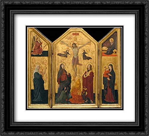 Paolo Uccello (Paolo di Dono) - 32x28 Black Ornate Framed and Double Matted Art by Museum Prints Titled: The Crucifixion