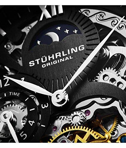 Stuhrling Original 571.33151 - Montre Automatique - Affichage Analogique - Bracelet Cuir Noir et...