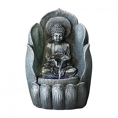 ZHJIUXING SF Fuente Exterior Jardin,Decoración De La Oficina En El Hogar Fuente De Agua De Mesa Zen Buddha 11/22'Cascada, Fuentes De Agua para Jardín, Small