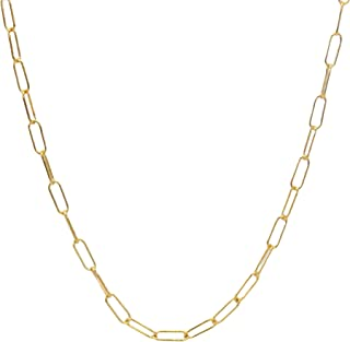 Paperclip Necklace for Women, Linked Chain Necklace, Gold-Filled or Sterling Silver Paper Clip Necklace