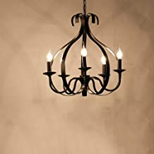 Amerikaanse land smeedijzeren zwart restaurant kroonluchter maat 50m * 50cm plafondlamp verlichting lamp cafe bar veranda ...