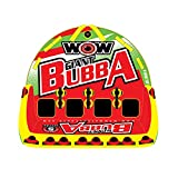 WOW World of Watersports, Big Bubba Hi Visibility Towable Tube Deck Seat, Front and Back Tow Points, 1-4 Riders