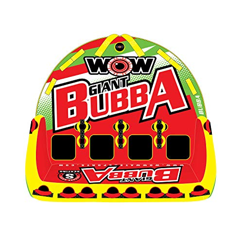 WOW World of Watersports Big Bubba 1 2 3 or 4 Person Inflatable Towable Deck Tube for Boating, 17-1070