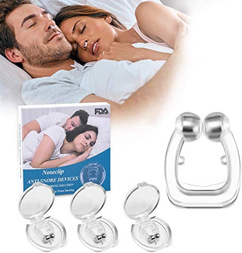 Latest Anti Snoring Devices, 3Pcs Silicone Magnetic Stop Snoring Device, Anti Snore Clip Comfortable Professional Sleeping Aid Relieve Snore for Men Women