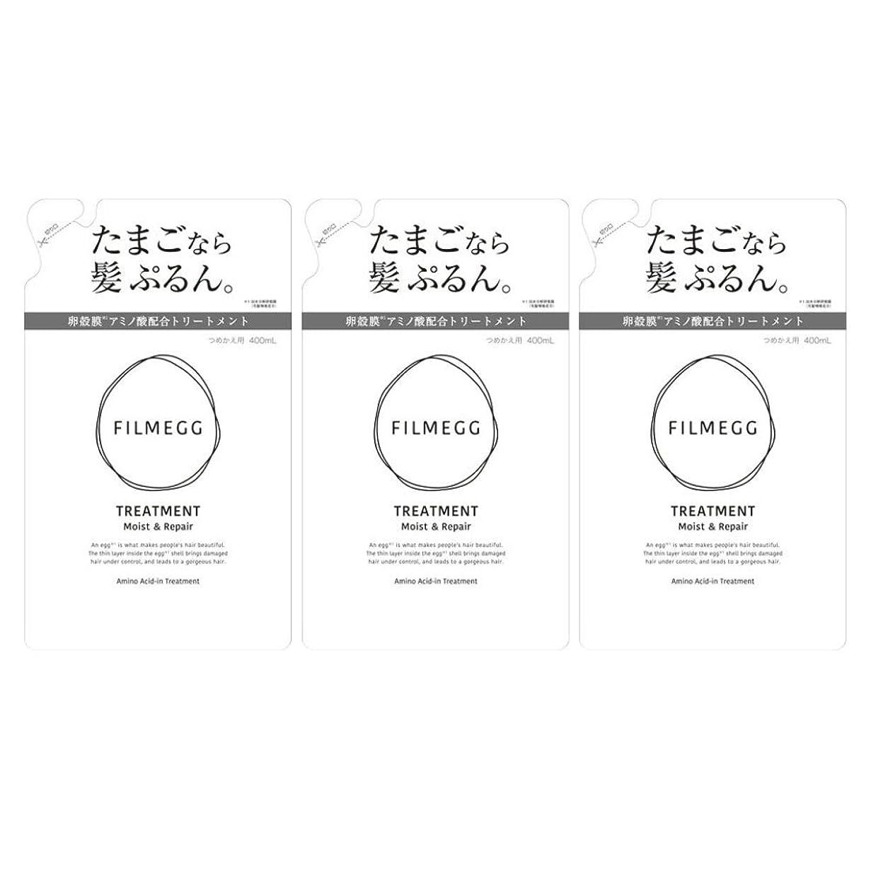 詳細なイブニング編集者【3個セット】FILMEGG(フィルメッグ) トリートメント 詰替え 400ml