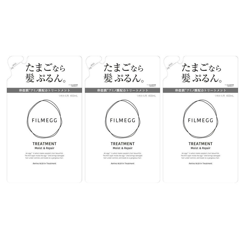 断言する土砂降り事故【3個セット】FILMEGG(フィルメッグ) トリートメント 詰替え 400ml