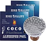 COCO PLATINUM Limited Edition of Pierced Hookah Foil 100 Sheet New Hookah Shisha Precut Foils 5.5 Inches 30 Mic