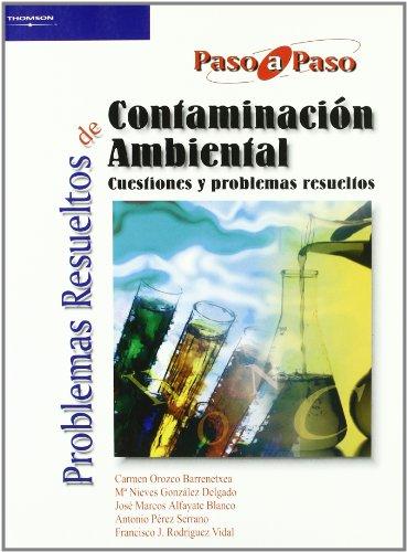 Problemas resueltos de contaminación ambiental (Química)