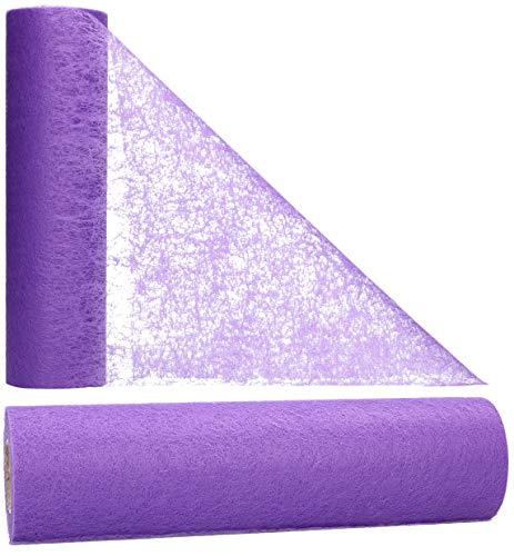 AmaCasa Vlies Tischläufer 30cm/25 Meter Tischband Hochzeit Kommunion (30cm, Violett)