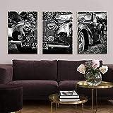レトロなヴィンテージクラシックトライアンフ象徴的な車のプリント写真ポスターキャンバス絵画北欧のポスター壁の写真リビングルームの装飾50x70cmフレームなし