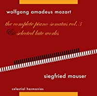 Mozart: Piano Sonatas Vol 3