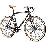 CHRISSON Bicicleta de carreras retro de 28 pulgadas, estilo vintage Road N3, color negro, 52 cm, con 3 marchas Shimano Nexus, Urban Old School bicicleta para hombre y mujer