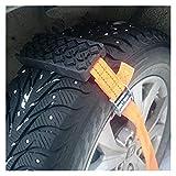 Cadenas Coche Duradera antideslizantes de coches neumático de tracción bloques de barro bolsa de Emergencia de Nieve arena Neumático cadena correas for la nieve de hielo de barro 005