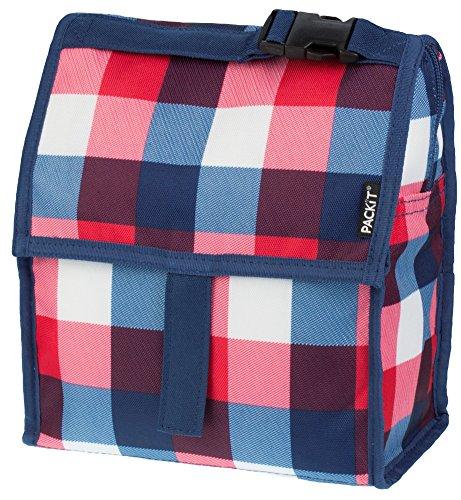 PACKIT Kühltasche Einfrierbar Lunch bag, Buffalo Check, 12.7 x 21.6 x 25.4 cm, 4.4 Liter