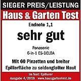 Panasonic Epilierer 6-in-1 Epiliergerät Damen, Wet & Dry - 6