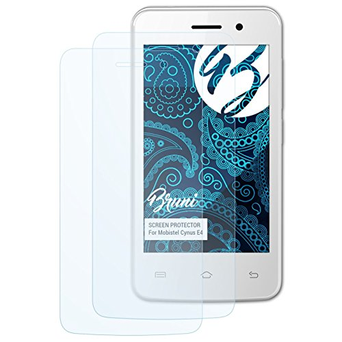Bruni Schutzfolie kompatibel mit Mobistel Cynus E4 Folie, glasklare Bildschirmschutzfolie (2X)