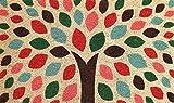 Coco&Coir® Paillasson en Fibre de Coco | 100% Fibre de Coco Naturelle avec endos en PVC | Tapis Coco Premium | Paillasson très Absorbant | Tapis d'Entrée, Exterieur et Intérieur | Zen Tree