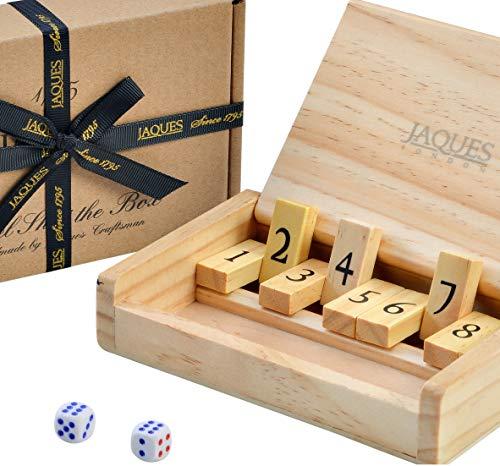 Jaques von London Travel Shut The Box - Taschenformat - Reise 9 Zahlen Würfelspiele - Seit 1795