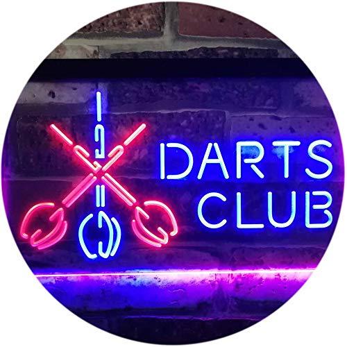 ADV PRO Dart Clubs Bar Pub VIP Open Dual Color LED Barlicht Neonlicht Lichtwerbung Neon Sign Blau & Rot 400 x 300mm st6s43-i3185-br