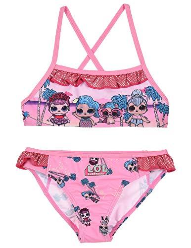 Entertainment LOL Surprise ET1813 Zweiteiliger Bikini, Polyester, Mädchen, Pink 5 Jahre