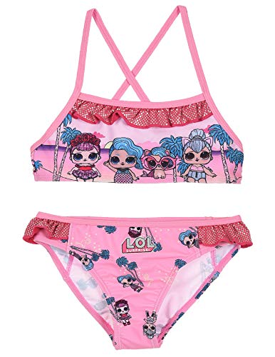 Entertainment LOL Surprise ET1813 - Disfraz de dos piezas, bikini, poliéster, niña Rosa 7 años