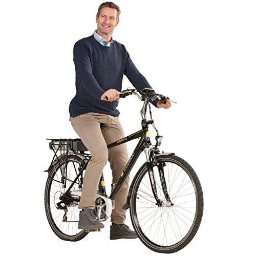 Alu-E-Trekking - Bicicleta eléctrica para hombre, 28 pulgadas, batería de 10 Ah,...