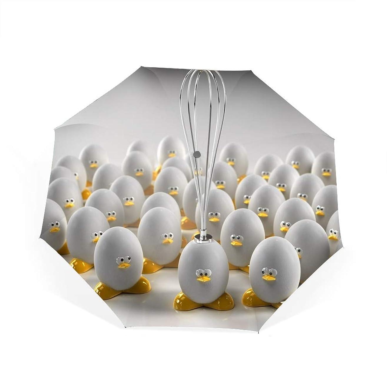 慢性的罪人百科事典抽象的なアートワークグラフィックデザインベクトルの卵自動開閉折り畳み傘 2重構造 耐風撥水8本骨 男女兼用 丈夫 大型 大きな傘 梅雨対策 収納ポーチ付き