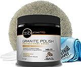 MB Stone Care Granite Polishing Compound 8.5 oz - Norton Ultra Grizzly Pad 7-3/4...