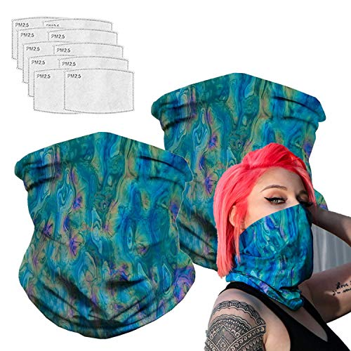 Bandanas Balaclava Neck Gaiter with Carbon Filter, Face Cover for Hot Summer