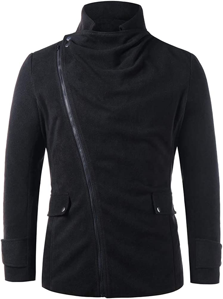 Over Free Shipping New item handling ☆ JMSUN New Men Winter Stand Collar Flap Pockets Zip Up Coat