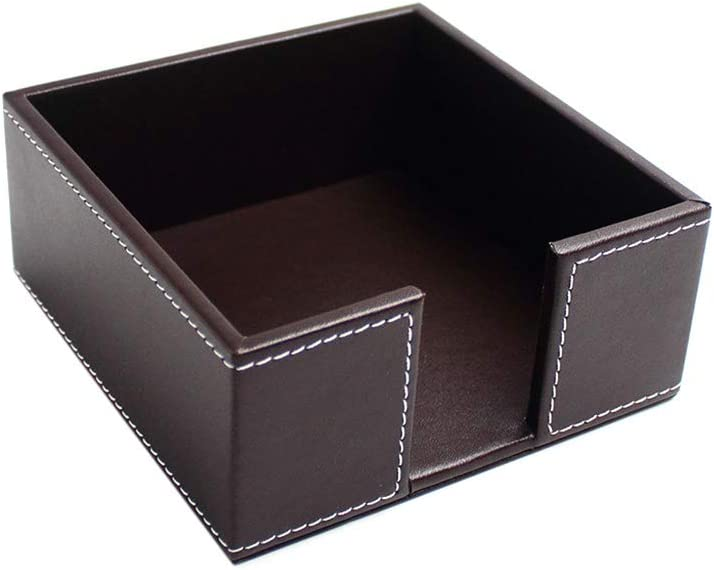 HELYZQ PU Leather Square Cocktail Holder Tucson Mall Paper Napkin Tissue Max 63% OFF Box
