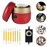 Mini Electric Pottery Wheel Machine, Adjustable Speed Portable Pottery Wheel Kit with Tray and 8 Clay Tools for Adult & Kid Beginners and DIY Ceramics Art