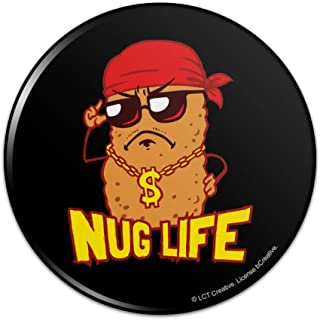 Nug Life Chicken Nugget Funny Humor Pinback Button Pin Badge - 1