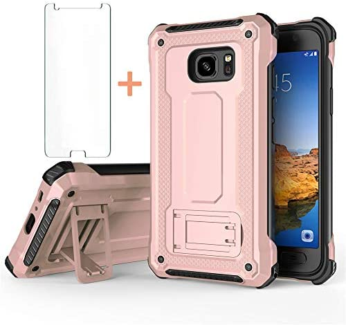 Phone Case for Samsung Galaxy S7 Edge with Tempered Glass Screen Protector Cover and Cell Accessories product image