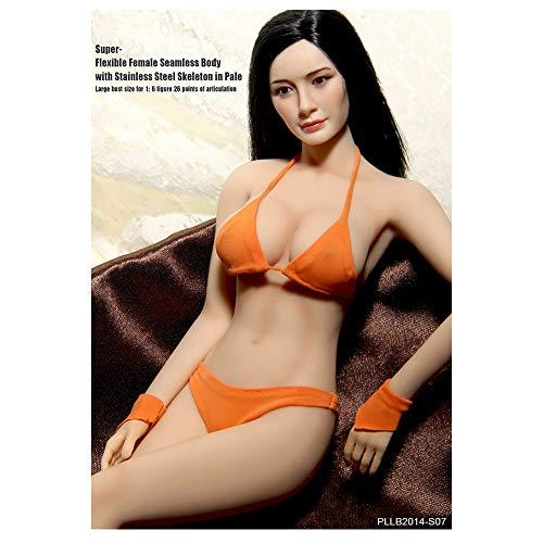 Kopf Senden, Um Bikini Zu Senden 1/6 Mannequin Stahlskelett Große Brüste Weiblichen Körper Super Flexibel Nahtlos Mit Metallskelett S07 S09 (S07)