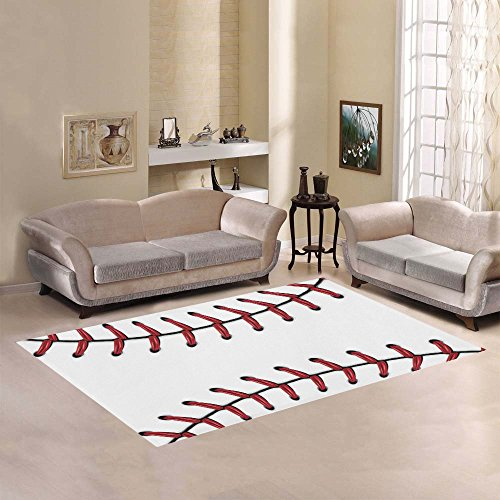 Love Nature Sweet Home Modern Collection Custom Baseball Area Rug 7'x5' Indoor Soft Carpet