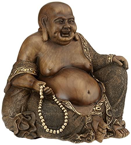 Oriental Furniture 10' Sitting Hotei Happy Buddha Statue