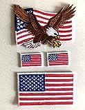 i-Patch - Patches - 0192 - USA - Flagge - Rechts - Sterne-n - Adler - Vereinigte-Staaten - US-Army - Mllitär-isches - Abzeichen - Applikation - Aufbügler - Flicken - Aufnäher - Sticker - Bügelbild